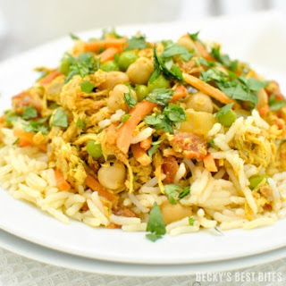 Slow Cooker Chicken Tikka Masala with Vegetables.