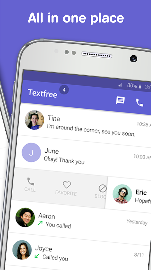 Text free: Calling App- screenshot
