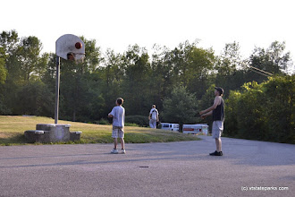 Photo: Playing basketball at Grand Isle State Park by Adam White