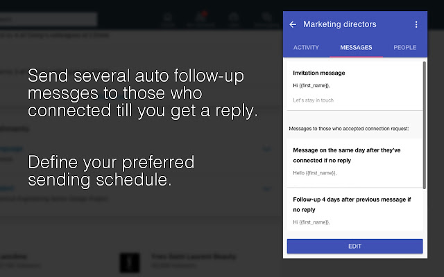 InTouch: Automate LinkedIn invites & messages