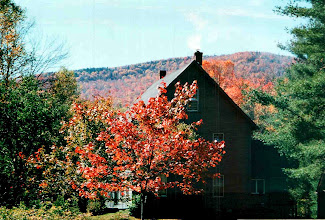 Photo: Fall Foliage with view of a ridge line at Stratton