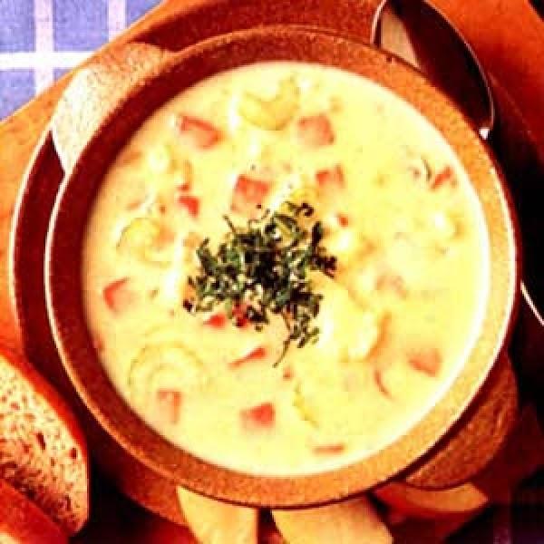 Cauliflower Ham Chowder Recipe