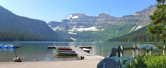 Photo: The next day (Sat. July 4) we started a hike here at Cameron Lake and ended up (14 miles later) at our campground on Waterton Lake.
