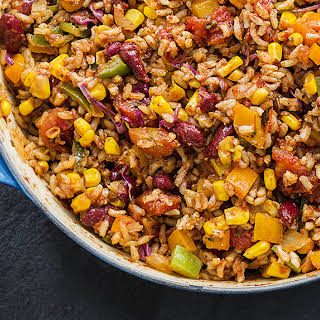 Mexican Kidney Bean Fried Rice.