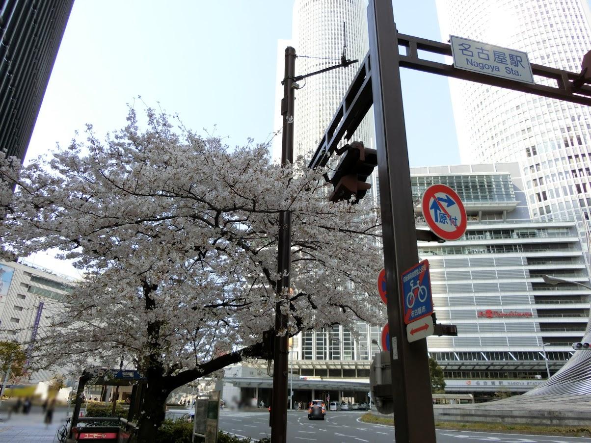 名古屋駅の信号標識