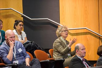 Photo: Prof Chris Mitchell, Dean of Faculty, asking a question. http://www.med.monash.edu.au/cecs/events/2015-tr-symposium.html