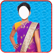 Kids saree photo suit