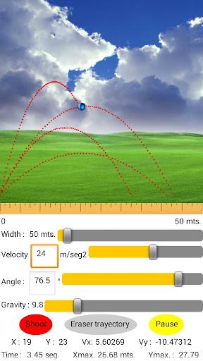 Parabolic Motion Simulator