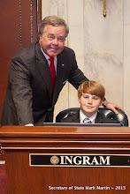 Photo: 3-27-13 Sen Ingram with Michael Parker