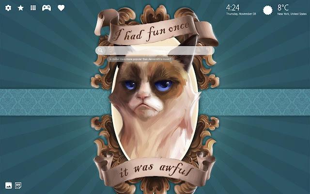 RIP Grumpy Cat HD Wallpaper New Tab Theme