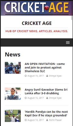 Cricket Age - Worldwide Cricket News ss1