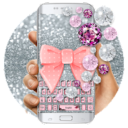 App Pink Diamond Lace Bow Keyboard APK for Windows Phone