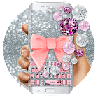 Pink Diamond Lace Bow Keyboard icon