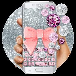 Pink Diamond Lace Bow Keypad