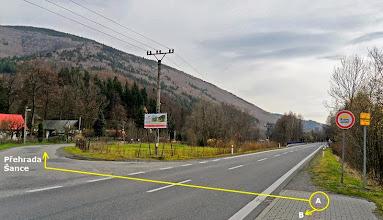 Photo: OSTRAVICE. VÝPADOVKA NA BÍLOU, STARÉ HAMRY, SLOVENSKO (A ) konec zpracované trasy Havířov - Ostravice (B) - cyklotrasa č. 59, směr Ostravice - Centrum, Frýdlant nad Ostravicí.