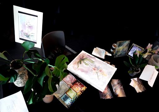 biennale de l'orchidée_ Pringy 2019_ AQUARELLE JEANNE PAPA