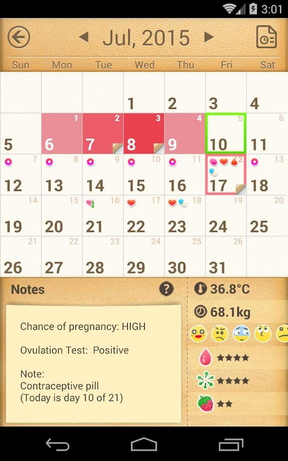 Period Tracker, My Calendar- screenshot