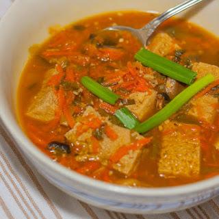 Tangy Tofu and Mushroom Soup