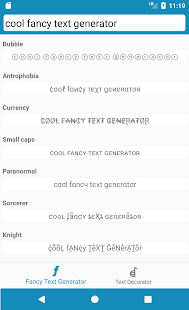 Cool Fancy Text Generator- screenshot thumbnail