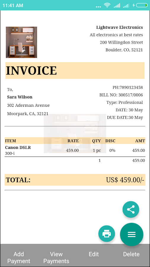 Invoices and Billing Software - 100,000+ Downloads- screenshot