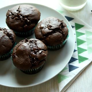 Gluten Free Double Chocolate Muffins.