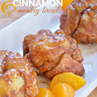 Mandarin Orange and Cinnamon Monkey Bread.
