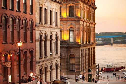 Enjoy early 20th-century architecture and striking views of the bay on Princess Street in Saint John, New Brunswick.