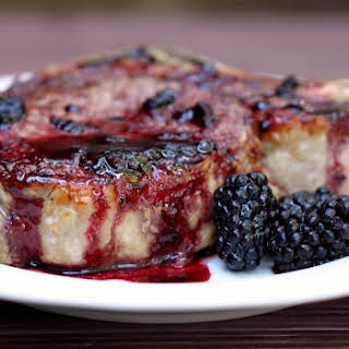 Pork Chops with Blackberry Sauce.