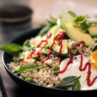 Egg and Edamame Brown Rice Bowl