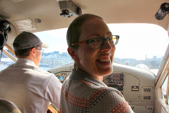 Photo: I got to be the co-pilot on the way up!