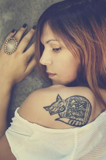 사진을 문신