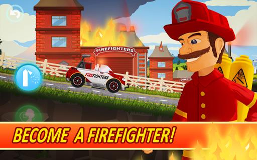 Fire Fighters Racing: Fireman Drives Fire Truck  screenshots 2