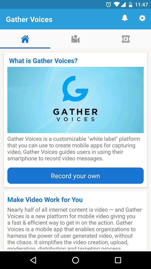 Gather Voices- screenshot