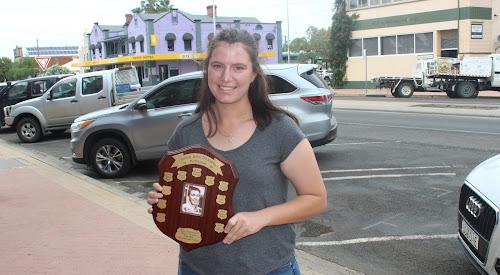 Narrabri Polocrosse Club Clinton Dickinson Memorial Trophy winner Lilly Cruckshank