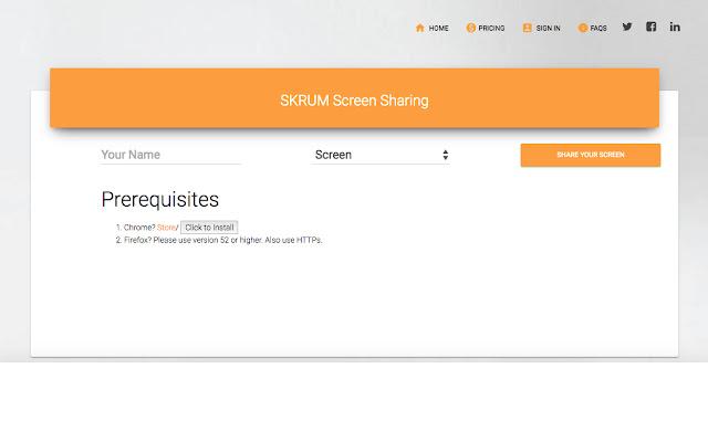 Skrum Screen Sharing