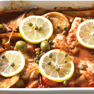 Fish, Fennel and Tomato Casserole.