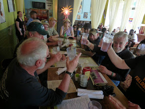 Photo: Toasting Doug for organizing such a moving event.