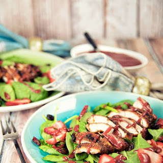 Blackened Chicken With Strawberry Salad