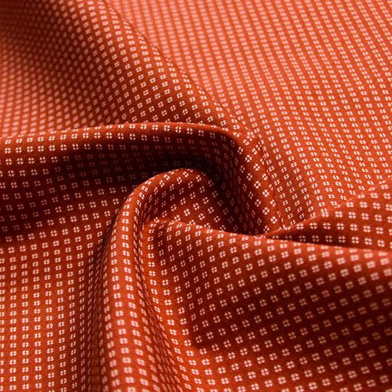 Småmönstrad Bomullspoplin - röd