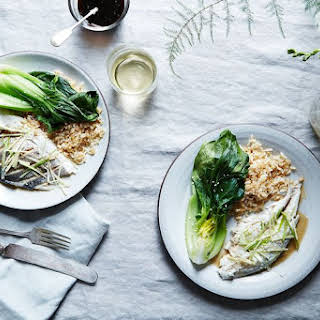 Steamed Fish with Ginger & Scallions.