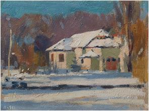 """Photo: Giorgio Morandi, """"Paesaggio di neve"""" (1911)"""