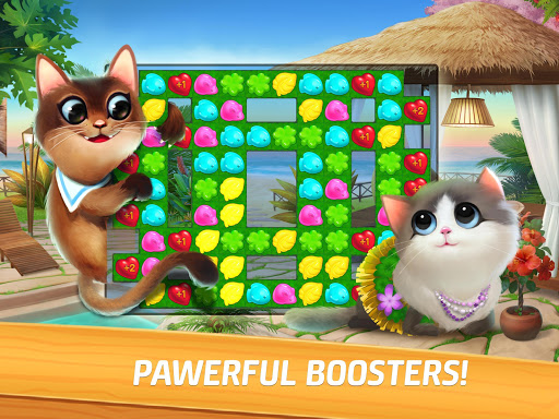 Meow Match: Cats Matching 3 Puzzle & Ball Blast apkpoly screenshots 10