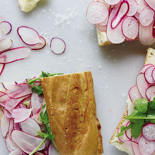 Radish Sandwiches with Butter and Salt.