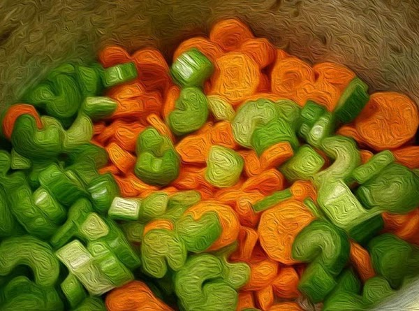 Add chopped onion, sliced carrots and sliced celery, and then cover the pot and...