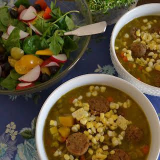 Vegan Loaded Split Pea Soup.