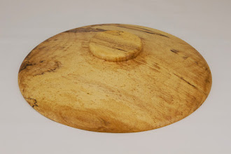 "Photo: Phil Brown 10 3/4"" x 1 3/4"" lid for Beads of Courage bowl [maple]"