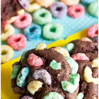 Fruit Loops Chocolate Cookies.
