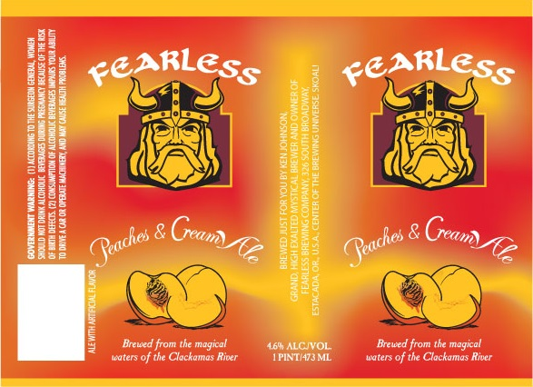 Logo of Fearless Peaches & Cream Ale