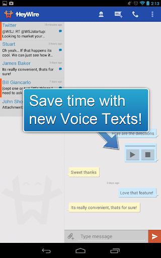 GoHeyWire Text FREE Texting screenshot 5