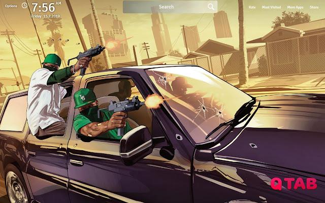 GTA V Wallpapers GTA V New Tab
